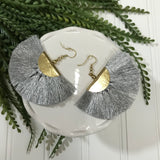 *Metallic Fringe Earrings