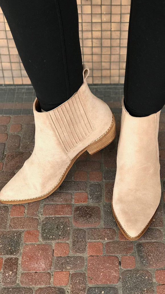 Low Heel Ankle Booties