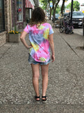 *Scoop Neck Tie Dye Top