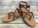 *Braided Strap Sandal w/ Adjustable Back Strap