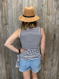 *Side Tie Striped Tank