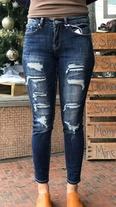 Kancan Distressed Faded Jeans