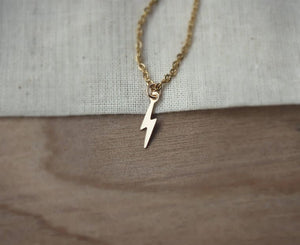 Power- Lightning Bolt Affirmation Necklace