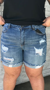 Risen Distressed Cuffed Shorts