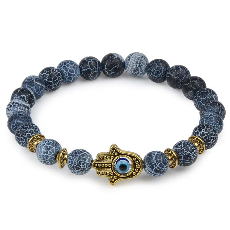 Eye Lava Stone Beaded Bracelet