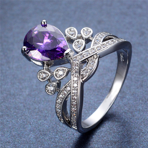 Princess Crown Amethyst Ring
