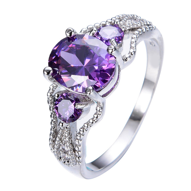 Diva Amethyst Gemstone Ring