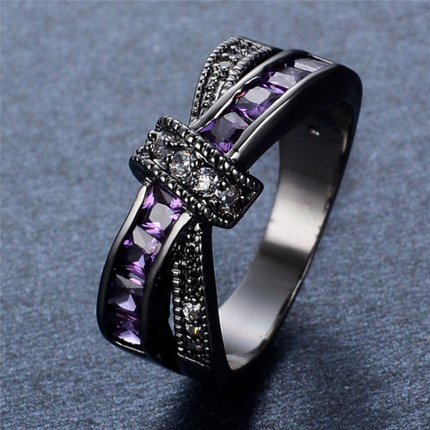 Unity Amethyst Gemstone Ring