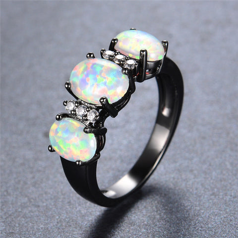 Trifecta Fire Opal Ring