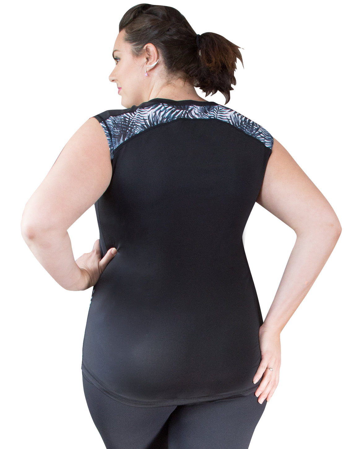 Back of Andi Plus Size Sports Top | Curvy Chic Sports