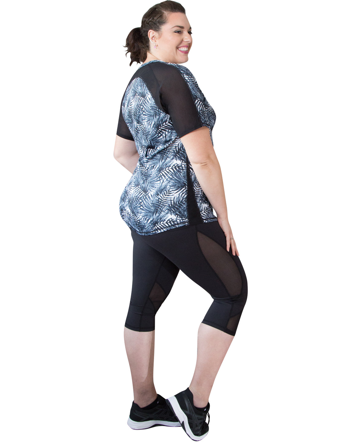 Spirit Short Sleeve Sports Top | Curvy Chic Sports