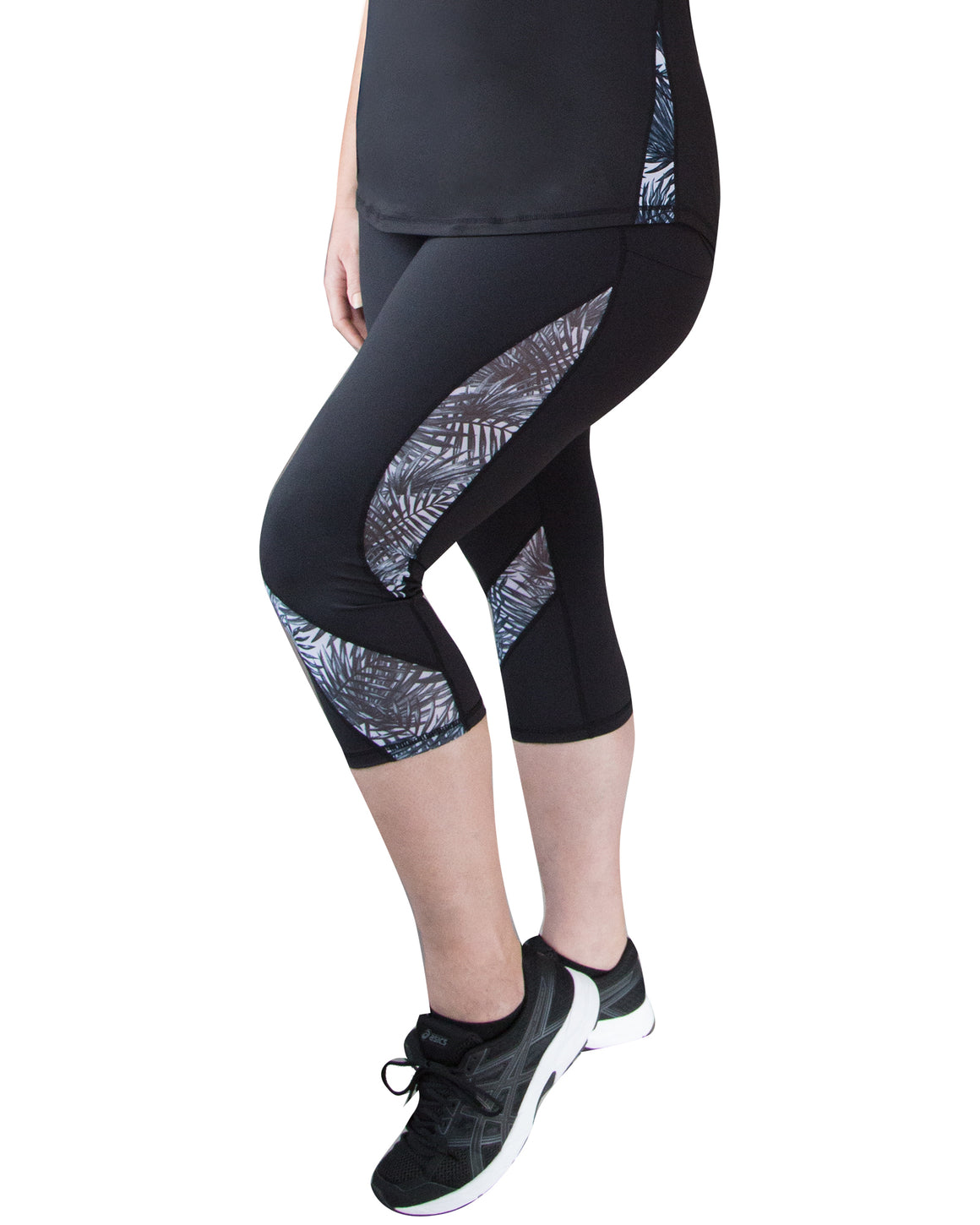 Plus Size Mesh Sculpt Tights with animal print | Curvy Chic Sports