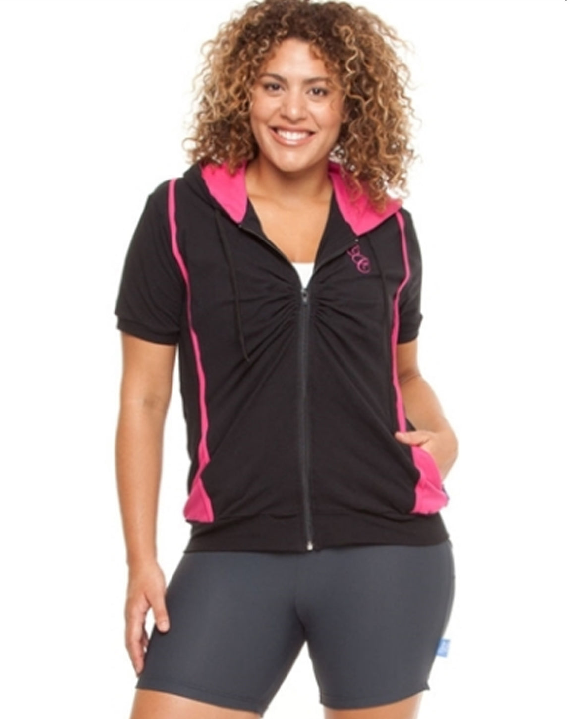 Lightweight Cotton Stretch Hoodie | Plus Size Activewear
