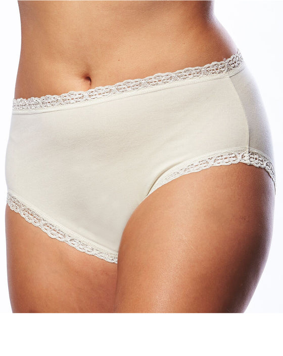 Lace Edged Cotton Underwear | PLus Size Underwear