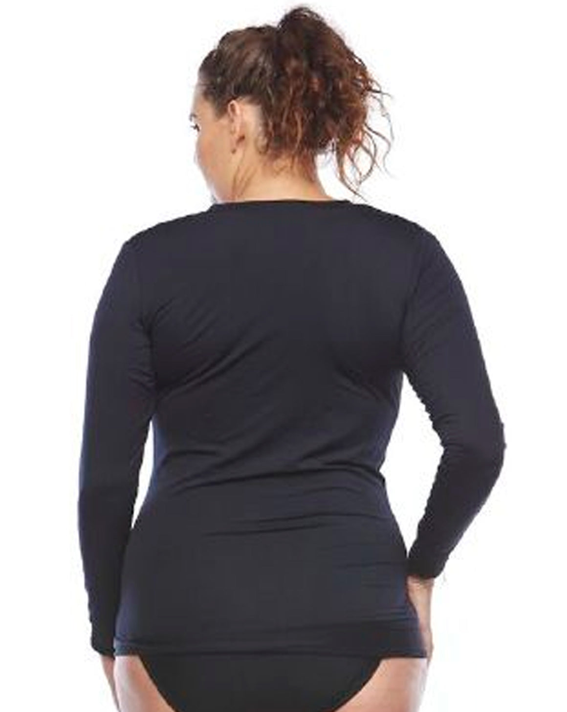 Back View Plus Size Rashie | Curvy Chic Sports