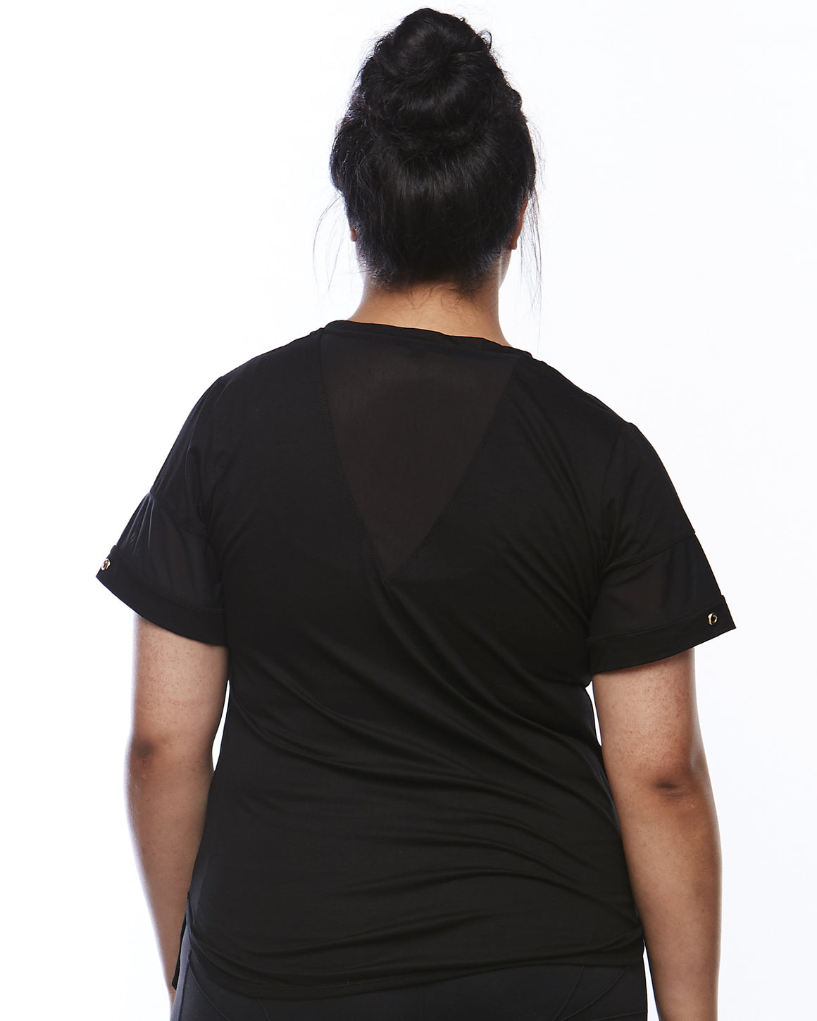 Back of the Serene Short Sleeve Sports Shirt by Lowanna Australia - Plus Size Sportswear