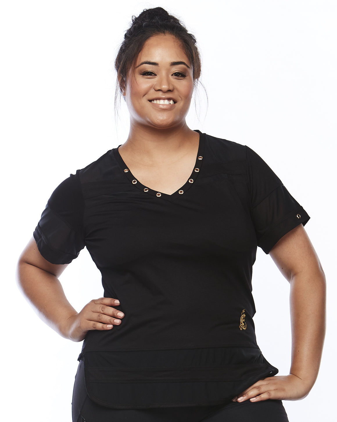 Serene Short Sleeve Sports Shirt by Lowanna Australia - Plus Size Sportswear