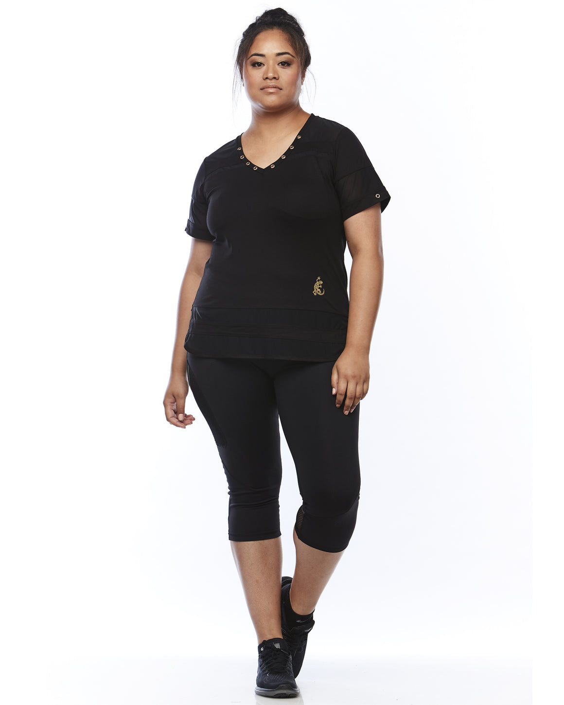 Mood Shot Serene Sports Shirt by Lowanna Australia | Plus Size Sports
