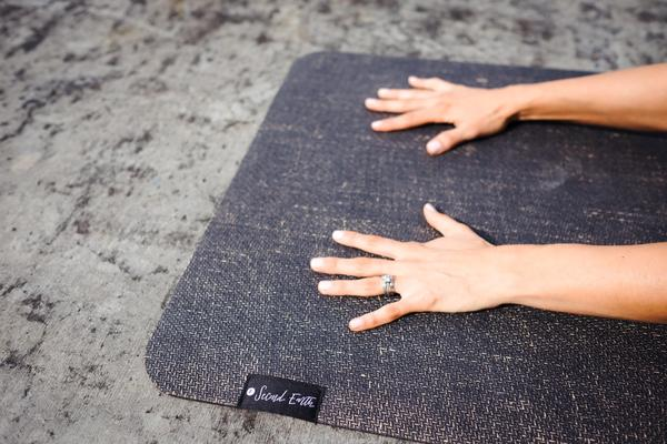Second Earth Eco Friendly Yoga Mat - Earth Black