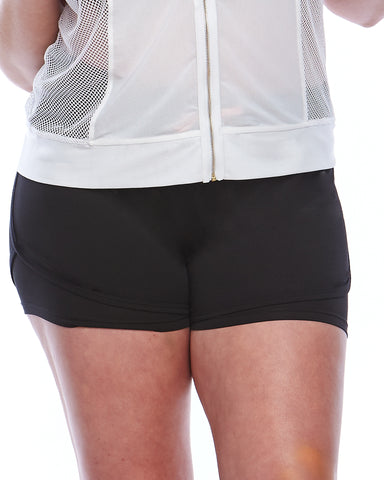 Smile Lite n Layer Compression Shorts | Plus Size Activewear