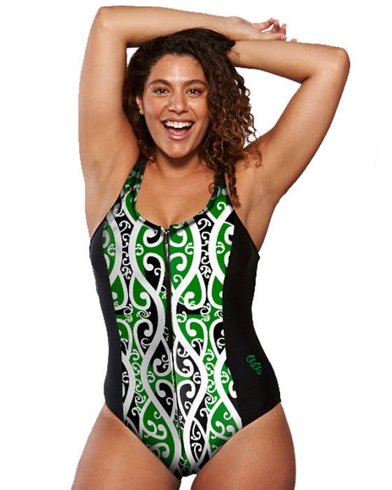 Koru Racerback Swimsuit | Strength, peace, new beginings