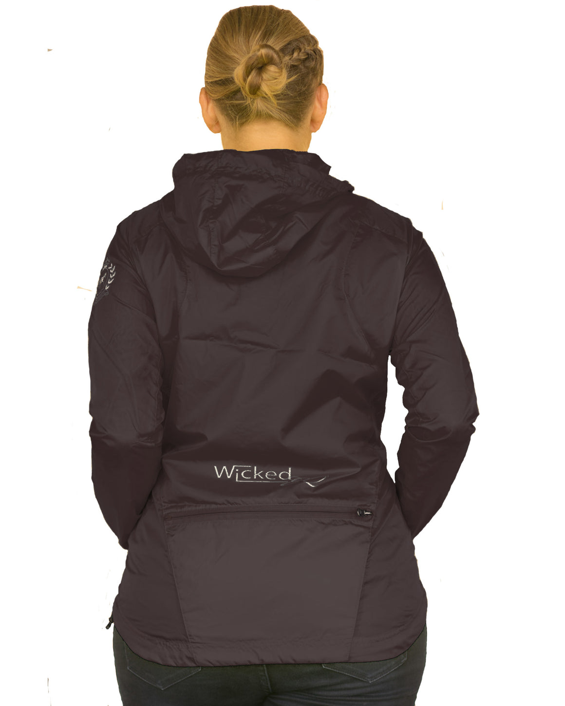 Sun Wind and Rain Proof Jacket Back | Plus Size Rain Jacket