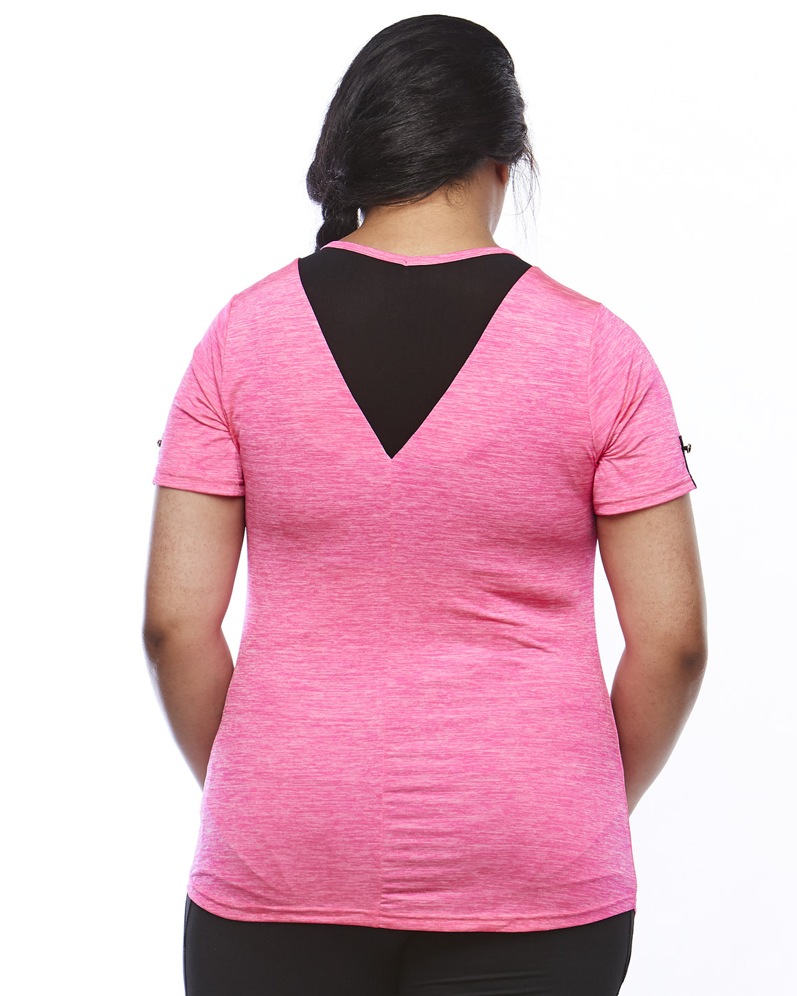 Back View Zest Short Sleeve Plus Size Sports Top from Lowanna Australia