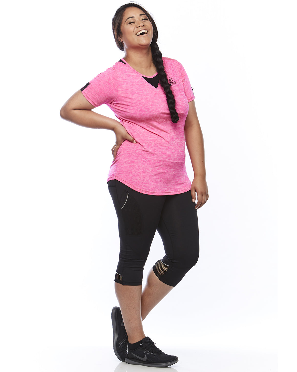 Pretty in pink light weight Zest Sports Top sizes 14-26 Lowanna Australia