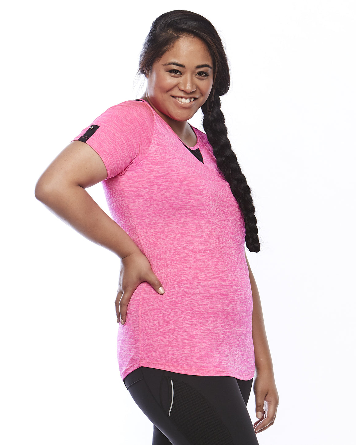 Side view Zest Plus Size Sports Top from Lowanna Australia