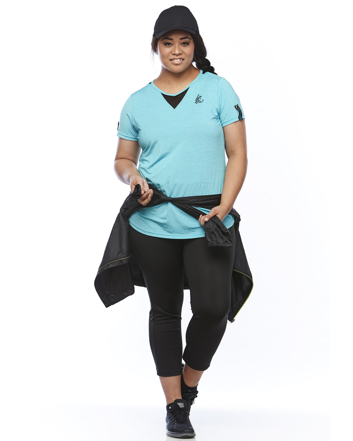 Getting funky with Lowanna Australia Zest Shorts Sleeve Shirt for Sports. Sizes 14-26.