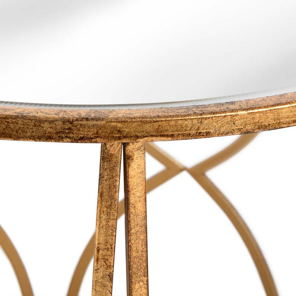 Lattice Detail 2 Set Side Tables - Gold