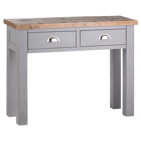 Byland Two Drawer Console Table - Grey