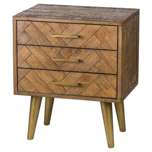 Havana Gold Side Table - 3 Drawer