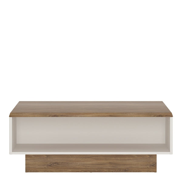 Toledo Stirling Oak Wide Coffee Table - Alpine White