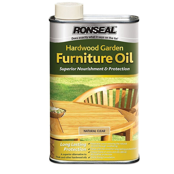 Ronseal Hardwood Teak Furniture Oil 1lt