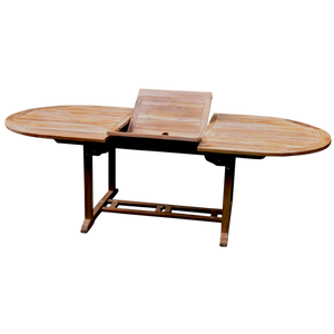 Oval Single Extending 180/240cm Garden Dining Table