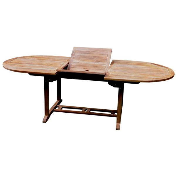 Oval Extending 180/240cm Garden Dining Table