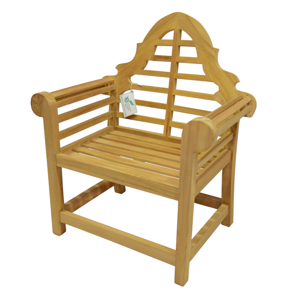 Teak Lutyens Arm Chair - Marlborough Teak Garden Chair