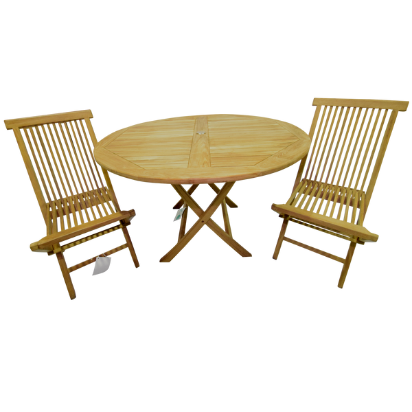 Al Fresco Round Folding 120cm Table Set