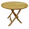 Al Fresco Round Folding 90cm Bistro Garden Table
