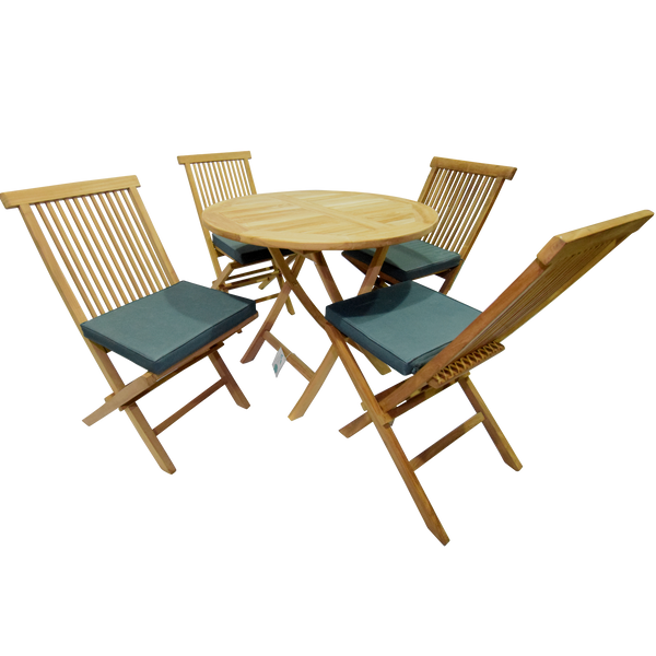Al Fresco Round Folding 90cm Table Set