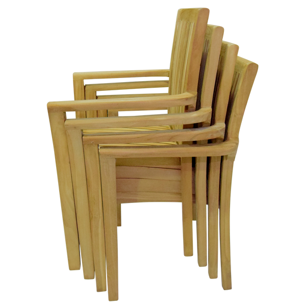 Rectangle Extending 180/240cm Table Set with Stacking Chairs