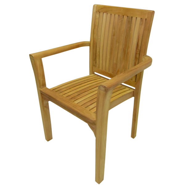 Teak Stacking Dining Garden Chair (4)