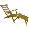 Deluxe Teak Steamer Sun Lounger with Leg Lift