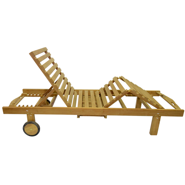 Executive Teak Sun Lounger with Drinks Tray