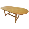 Oval Fixed 180cm Garden Dining Table