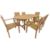 Oval Fixed 180cm Table Set with Stacking Chairs