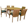 Oval Double Extending 180/240cm Table Set with Stacking Chairs