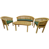 Luxury Refined Teak Banana Bench