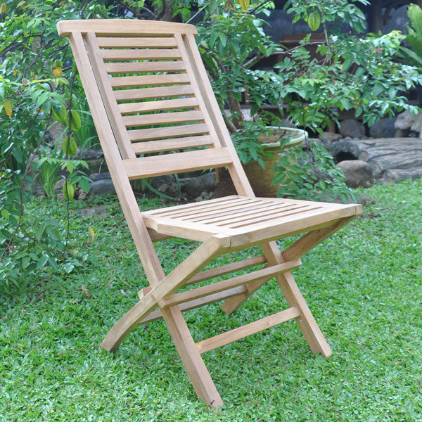 KYOTO TEAK 4 SEATER WOOD ROUND INDOOR / OUTDOOR RIPPLE KITCHEN TABLE CHAIR SET
